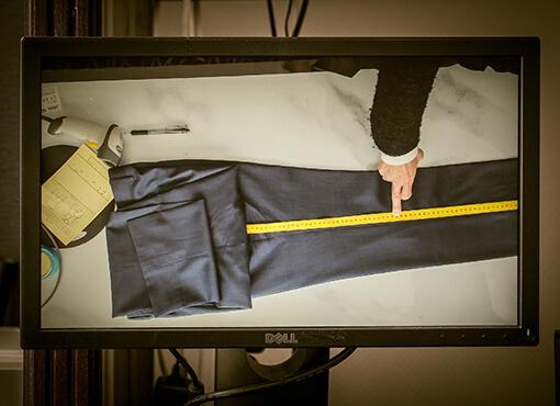衣類の検品